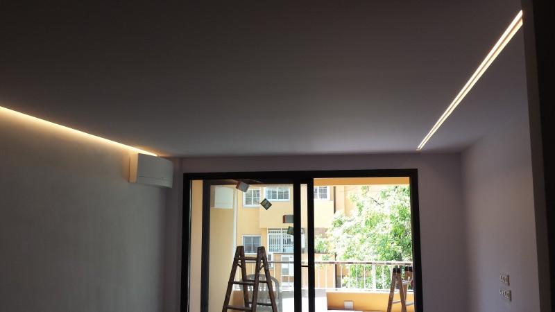 Iluminación indirecta con LED - El Limonar_Málaga
