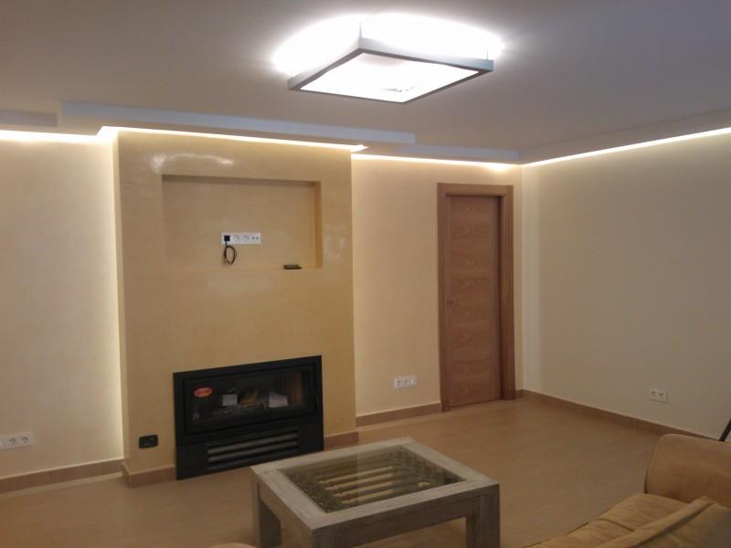 Iluminacion LED en Salon